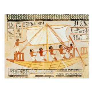 Barqueros en el Nilo, de la tumba de Sennefe Postal