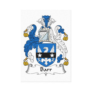 Barr Family Crest Stretched Canvas Print