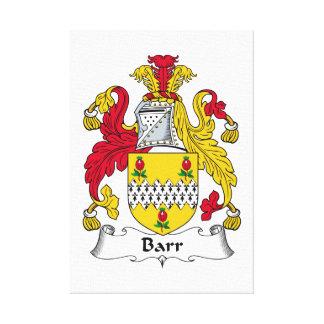 Barr Family Crest Canvas Prints