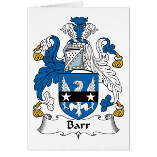 Barr Family Crest Cards