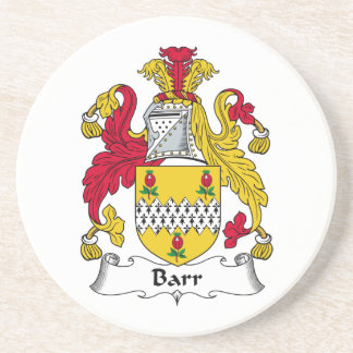 Barr Family Crest Beverage Coasters