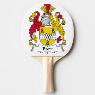Barr Family Crest Ping-Pong Paddle