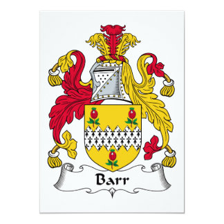 Barr Family Crest Personalized Announcement