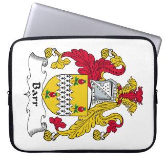Barr Family Crest Laptop Sleeves