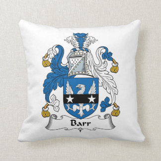 Barr Family Crest Throw Pillows