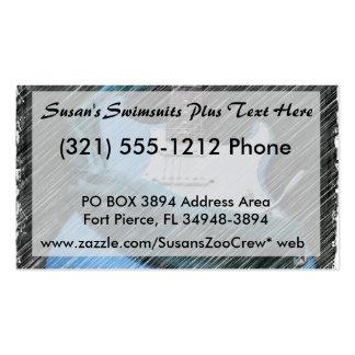 barra azul del whammy de la guitarra eléctrica plantilla de tarjeta de negocio