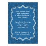 Barra azul marino Mitzvah del modelo de Paisley Invitación Personalizada