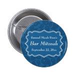 Barra azul marino Mitzvah del modelo de Paisley Pin