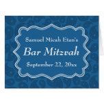 Barra azul marino Mitzvah del modelo de Paisley Tarjetón