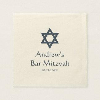 Barra azul marino Mitzvah personalizado Servilletas Desechables