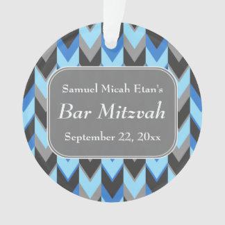 Barra azul y gris Mitzvah del modelo de Chevron