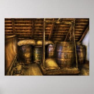 Barra - barriles de vino impresiones