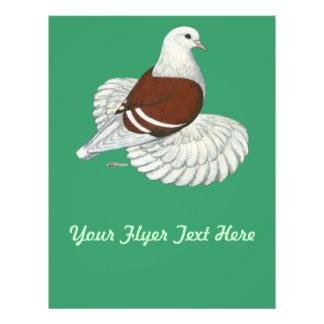 Barra blanca roja del escudo sajón tarjetas informativas