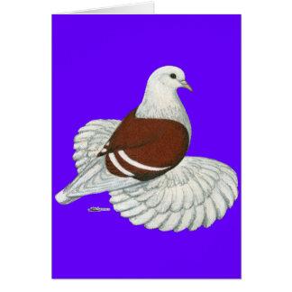 Barra blanca roja del escudo sajón tarjeta pequeña