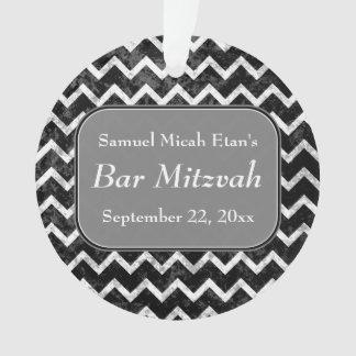 Barra blanco y negro Mitzvah de Chevron del modelo