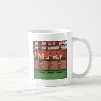 Barra británica del Pub Taza De Café