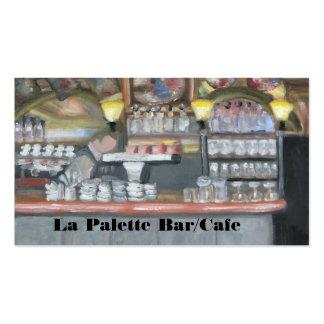 Barra/café de la paleta del La Tarjetas De Visita