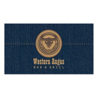 Barra de Angus y tarjeta de visita occidentales de