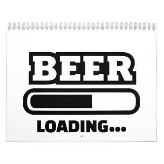 Barra de cargamento de la cerveza calendarios