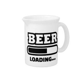 Barra de cargamento de la cerveza jarra de beber