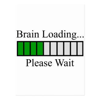 Barra de cargamento del cerebro tarjetas postales