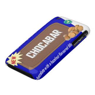 Barra de chocolate con las nueces iPhone 3 Case-Mate carcasas