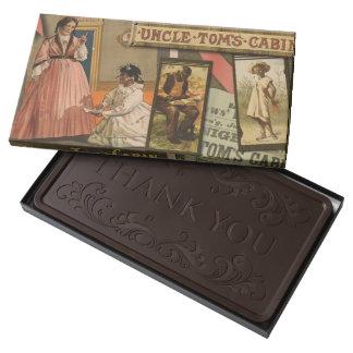 Barra de chocolate de la cabina de tío Tom del Chocolate Negro Personalizado