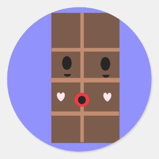 Barra de chocolate del zombi pegatina redonda