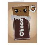 Barra de chocolate linda tarjeta