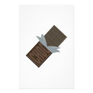 Barra de chocolate papelería de diseño