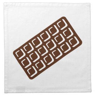 Barra de chocolate servilleta de papel