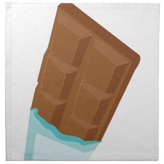 Barra de chocolate servilleta