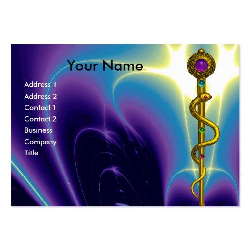 BARRA de la amatista vibrante del oro de ASCLEPIUS