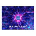 Barra de la apuesta de Magen/palo Mitzvah Invitación 12,7 X 17,8 Cm