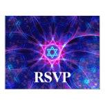 """Barra de la apuesta de Magen/palo Mitzvah RSVP Invitación 4.25"""" X 5.5"""""""