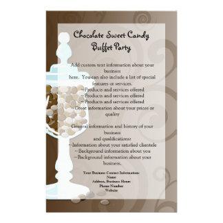 Barra de la comida fría del caramelo de chocolate, tarjetas informativas