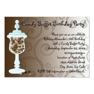 Barra de la comida fría del caramelo de chocolate, invitación 12,7 x 17,8 cm