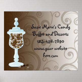 Barra de la comida fría del caramelo de chocolate poster