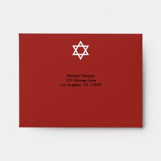 Barra de la estrella/sobre brillantes de Mitzvah Sobre