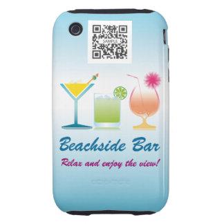 barra de la playa de la plantilla del caso del carcasa resistente para iPhone
