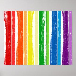 BARRA DE LA TINTA DEL ORGULLO DE LGBT - .PNG PÓSTER