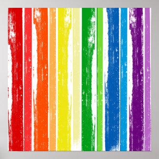 BARRA DE LA TINTA DEL ORGULLO DE LGBT PÓSTER