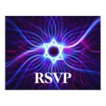 Barra de Magen del plasma/palo Mitzvah RSVP Invitación Personalizada