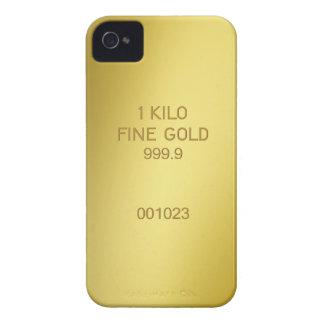 Barra de oro funda para iPhone 4