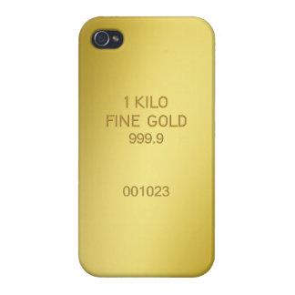 Barra de oro iPhone 4/4S carcasa