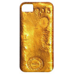 Barra de oro iPhone 5 funda