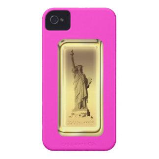 barra de oro, libertad de la estatua, la mayoría d Case-Mate iPhone 4 cárcasa