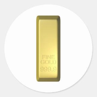 Barra de oro etiquetas redondas