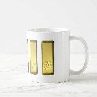 Barra de oro taza de café