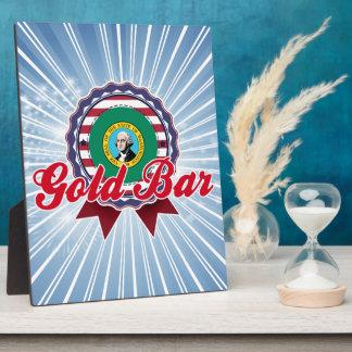 Barra de oro, WA Placas Con Foto